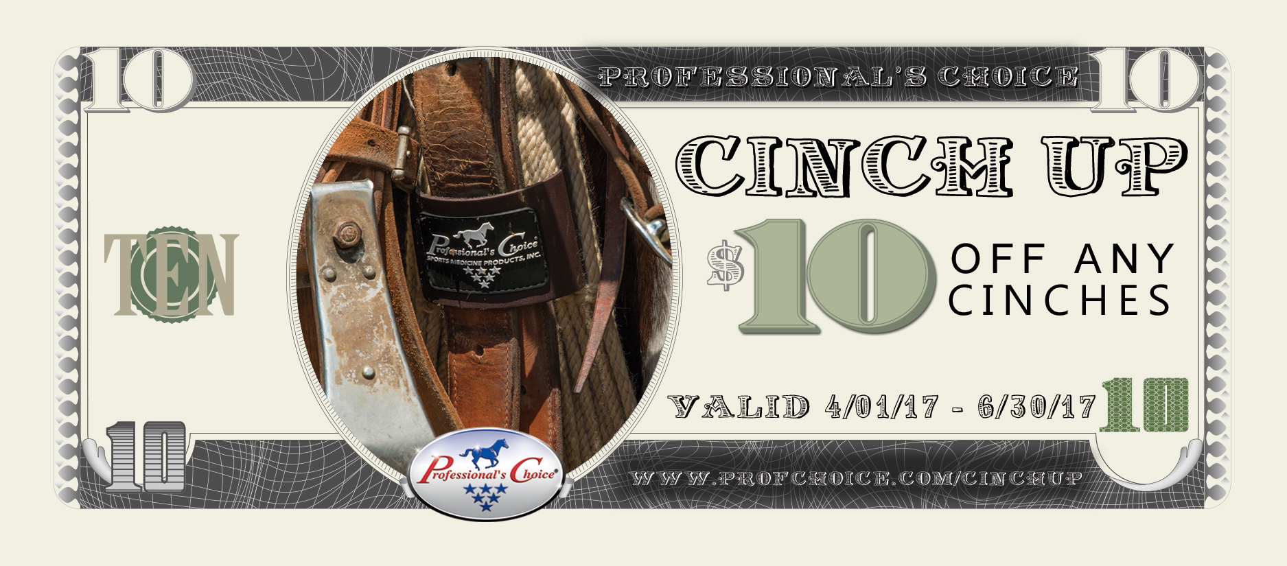 Save $10 off any Professional's Choice Cinch