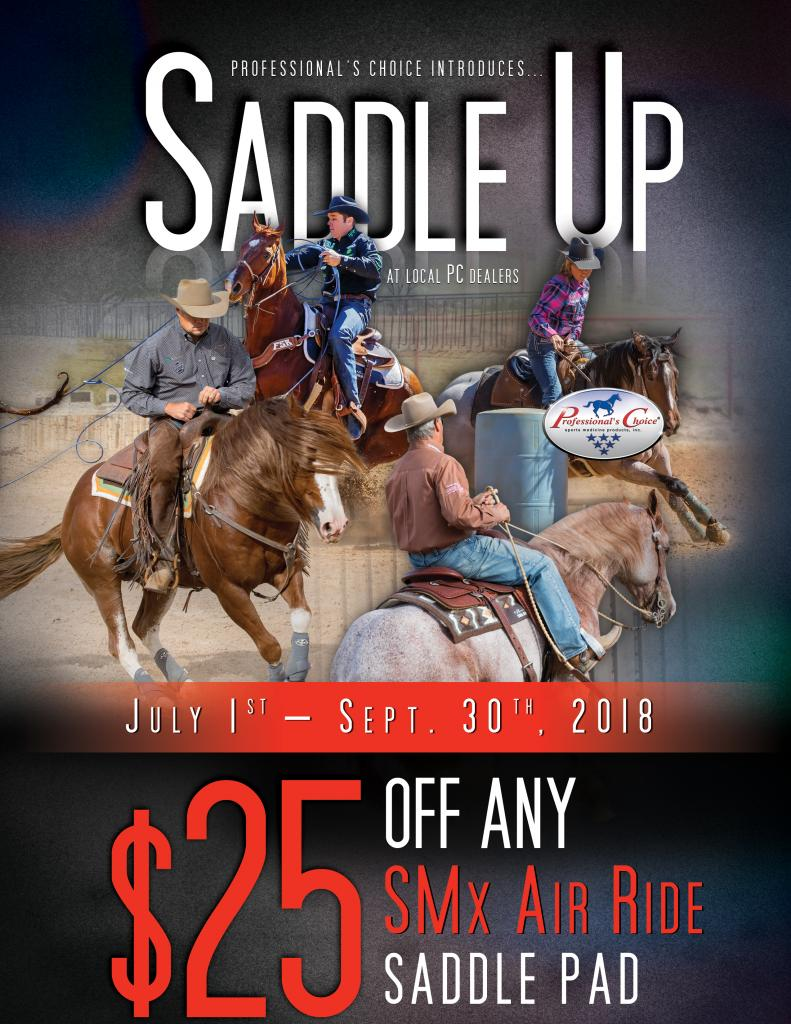 Save $25 off any SMx Air Ride Saddle Pad