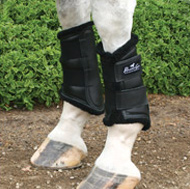 ultrashock supports on a horse's legs
