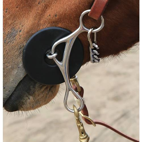 Professional Choice Brittany Pozzi Three Piece Twisted Wire Snaffle Horse Bit U