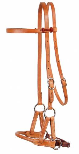 Round Leather Nose Side Pull