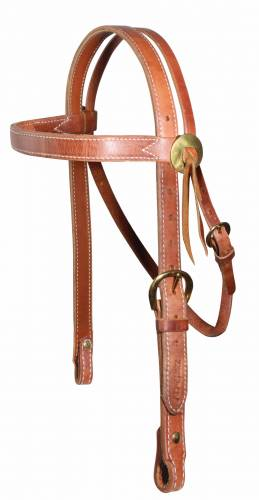 AD Heavy Brow Snaffle Headstall