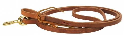 Harness Leather Rein with Waterloops