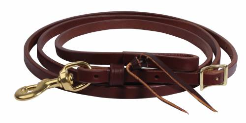Ranch Heavy Oil Harness Leather Roping Reins