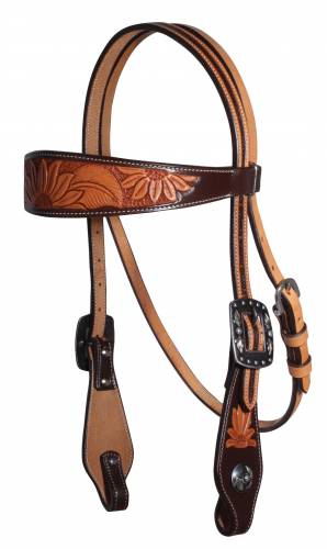 Sunflower Browband Headstall