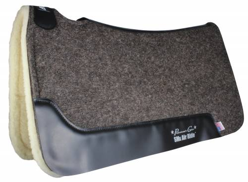 Cowboy Felt Air Ride Saddle Pad - Merino Wool Bottom