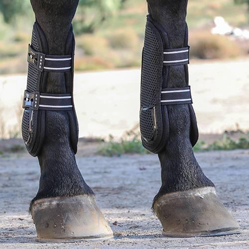 Pro Mesh TPU Show Jump Boots - Black
