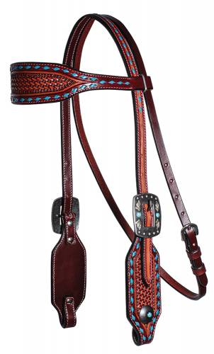 Basket Weave Collection - Browband Headstall