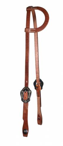 Flat Ear Headstall - Daisy Buckle