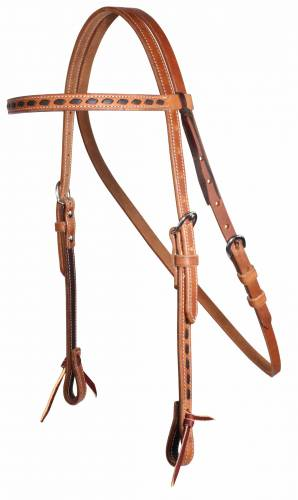 Buckstitched Browband Headstall