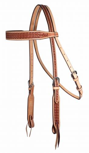Windmill Collection - Natural Border Browband Headstall