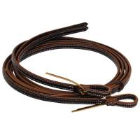 Al Dunning Tack by PC - Reins - Oiled 2-Ply Latigo Reins