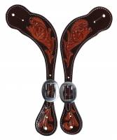 Professional's Choice Collection - Spur Straps - Chocolate Floral Spur Straps