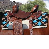"""Saddle Pads - Comfort-Fit Air Ride Pads - Sparkle Comfort-Fit SMx 1/2"""" Air Ride Saddle Pad (Merino Wool bottom)"""